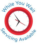 While you wait, servicing available